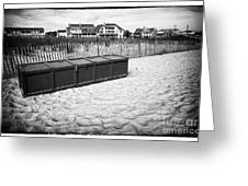 Beach Locker Greeting Card by John Rizzuto
