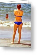 Beach Mom Greeting Card