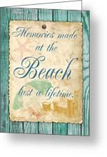 Beach Notes-a Greeting Card