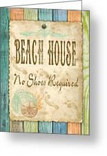 Beach Notes-d Greeting Card