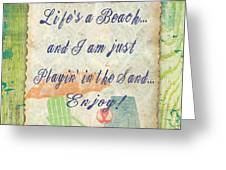 Beach Notes-e Greeting Card by Jean Plout