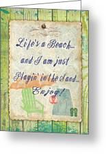 Beach Notes-e Greeting Card