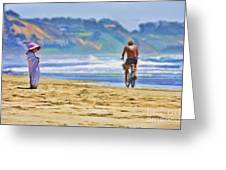 Beach Of Life Large Crop Greeting Card