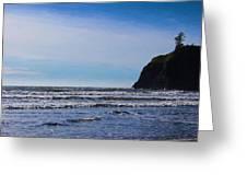 Beach On The Oregon Coast Greeting Card