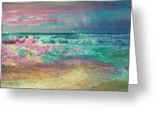 Beach  Overcast Greeting Card