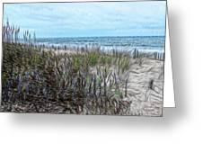 Beach Painting 2 Greeting Card