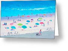 Beach Painting - Happy Days Greeting Card
