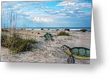 Beach Pals Greeting Card by Betsy Knapp