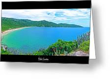 Beach Panorama - Brasil Greeting Card