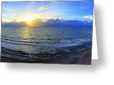 Beach Panorama Greeting Card