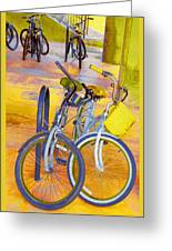 Beach Parking For Bikes Greeting Card