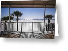 Beach Patio Greeting Card