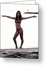 Beach Pose Greeting Card