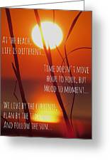 Beach Quote Greeting Card