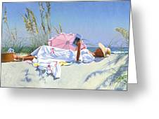Beach Recliner Greeting Card