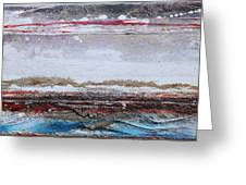 Beach Rhythms And Textures IIi Greeting Card by Mike   Bell