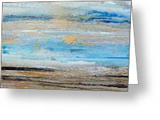Beach Rhythms And  Textures Northumberland 1a Greeting Card