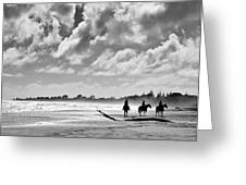 Beach Riders Greeting Card