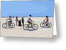 Beach Riders Greeting Card