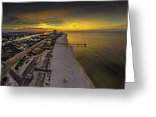 Beach Road Sunrise Greeting Card