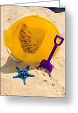 Beach Sand Pail And Shovel Greeting Card