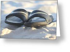 Beach Sandals 2 Greeting Card