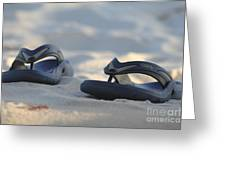 Beach Sandals 3 Greeting Card