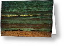 Beach Scene Ocean Waterfront Photograph Print Greeting Card by Laura Carter