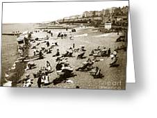 Beach Sean France  Circa 1900 Greeting Card