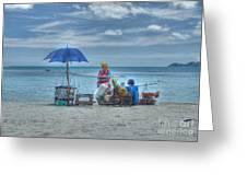 Beach Sellers Greeting Card