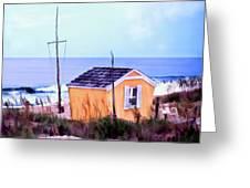 Beach Shack At Nags Head Greeting Card