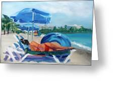Beach Siesta Greeting Card