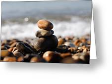 Beach Stones Greeting Card by Ivelin Donchev