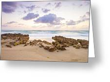 Beach Sunrise At Jupiter Island Florida Greeting Card