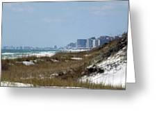 Beach To City Greeting Card
