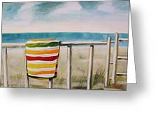 Beach Towel Greeting Card