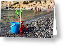 Beach Toys Greeting Card by Luis Alvarenga