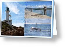 Beach Triptych 2 Greeting Card