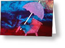 Beach Umbrella Greeting Card