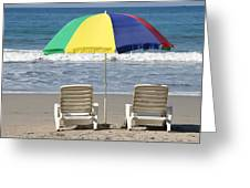 Beach Umbrella Greeting Card
