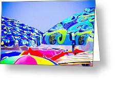 Beach Umbrellas Greeting Card