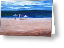 Beach Umbrellas Greeting Card