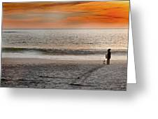 Beach Vendor Greeting Card by Ed Pettitt