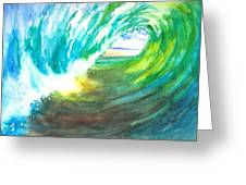 Beach View From Wave Barrel Greeting Card