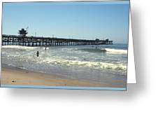 Beach View With Pier 2 Greeting Card