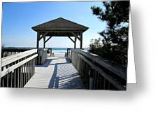 Beach Walk Greeting Card by Silvie Kendall