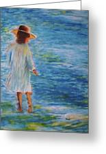 Beach Walker Greeting Card