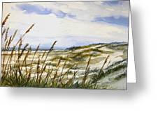 Beach Watercolor 3-19-12 Julianne Felton Greeting Card