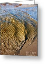 Beach Wave Pattern. Greeting Card