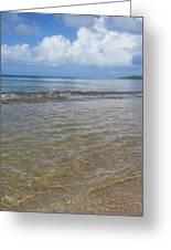 Beach Waves Tall Greeting Card